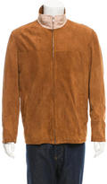 Kiton Suede Zip-Up Jacket