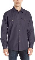 Wrangler Men's Big and Tall Long Sleeve Canvas Shirt