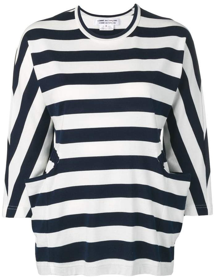 Comme des Garcons striped crew neck sweater