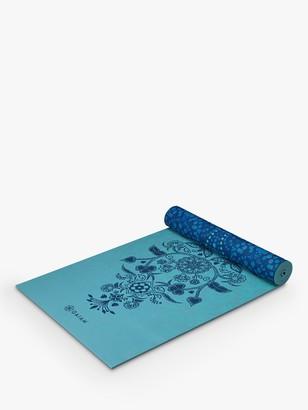 Gaiam Reversible Mystic Sky 6mm Yoga Mat, Blue