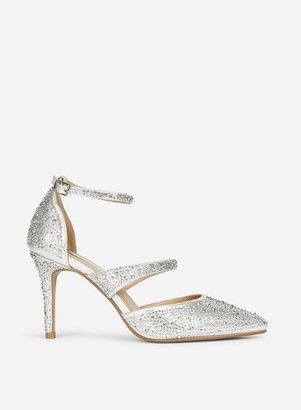 Dorothy Perkins Womens Showcase Silver 'Gingera' Court Shoes, Silver