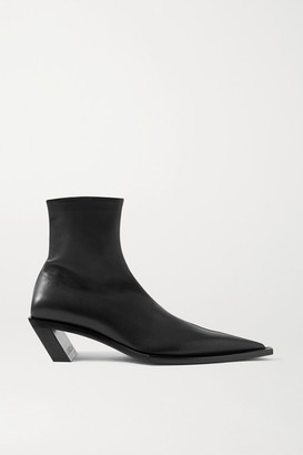 Balenciaga Tiaga Leather Ankle Boots - Black