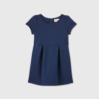 Cat & Jack Toddler Girls' Stretch Short Sleeve Uniform Knit Dress - Cat & JackTM