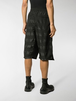 Stone Island Shadow Project Long Panelled Bermuda Shorts