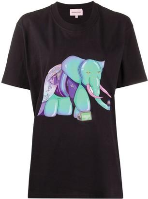 Natasha Zinko oversized elephant vision T-shirt
