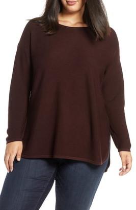 Eileen Fisher Crewneck Merino Wool Tunic Top