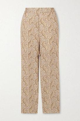 Etro Paisley-print Wool And Silk-blend Straight-leg Pants - Ivory