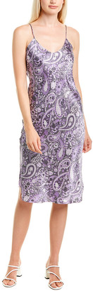 Nili Lotan Printed Silk Cami Dress