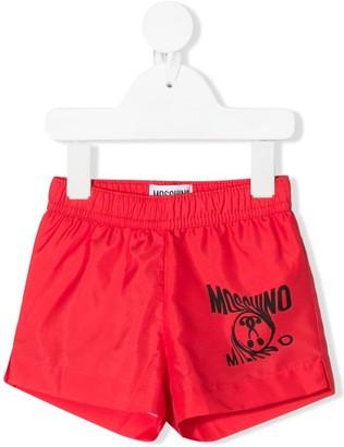 MOSCHINO BAMBINO Logo Printed Swim Shorts