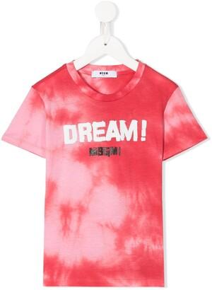 Msgm Kids tie dye print T-shirt