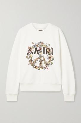 Amiri Printed Cotton-jersey Sweatshirt - Ivory