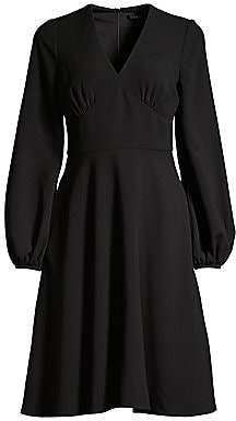 Black Halo Women's Yvette Long-Sleeve Flare Dress - Size 0
