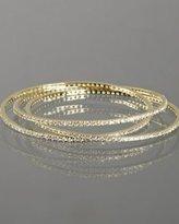 gold CZ pave linked bangles
