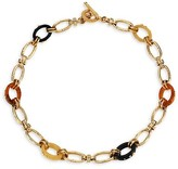 Thumbnail for your product : Gas Bijoux Escale Picot 24K Goldplated & Multicolor Acetate Link Necklace