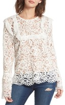 WAYF Women's Lydia Lace Top