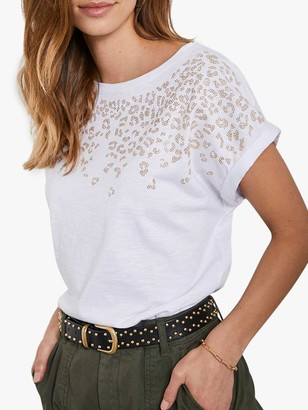 Mint Velvet Leopard Embellished T-Shirt