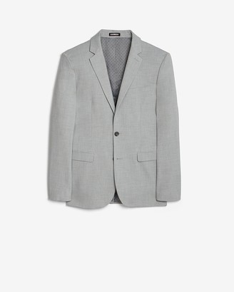 Express Extra Slim Gray Solid Performance Blend Suit Jacket
