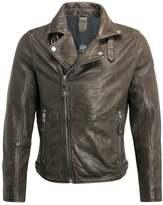 Gipsy Mavric Leather Jacket Oliv