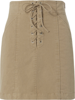 A.L.C. Kylie Khaki Lace-up Mini Skirt