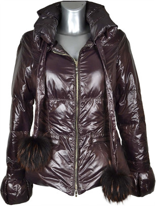 Annie P. Burgundy Polyester Coats