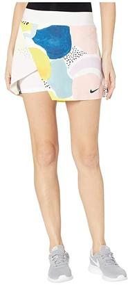 Nike NikeCourt Wrap Skirt MB NT (White/Black) Women's Skirt