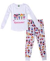 Youngland White 'Be Awesome' Pajama Set - Infant & Toddler