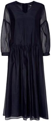 S Max Mara Cotton & Silk Organza Long Dress