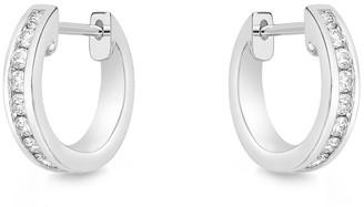 Memoire 18K 0.23 Ct. Tw. Diamond Huggie Earrings