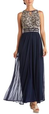 R & M Richards Petite Lace Gown