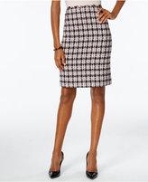 Tahari ASL Bouclé Tweed Skirt