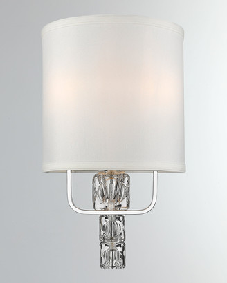 Crystorama Addison 2-Light Polished Chrome Sconce