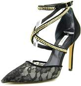 GUESS Adabellely Womens Size 9 Black Textile Dress Sandals Shoes