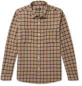 A.P.C. Checked Wool-blend Flannel Overshirt - Beige