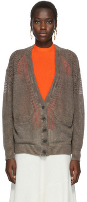 See by Chloe Brown Linen Cardigan
