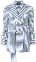 Eudon Choi striped tie waist jacket