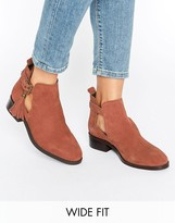 Asos AUDRINA Wide Fit Suede Tassle Boots