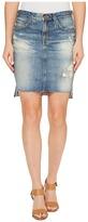 AG Adriano Goldschmied Erin Skirt in 17 Years Lapse Mended Women's Skirt