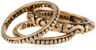 """Barse Basics"""" Bronze Triple Stackable Ring Size 6"""