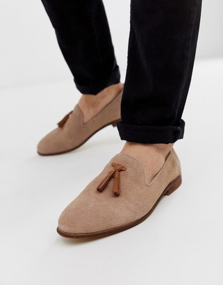 Kg Kurt Geiger KG by Kurt Geiger loafers in pink suede with contrast tassel detail