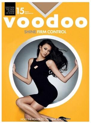 Voodoo Shine Firm Control Sheers 15 Denier 1 Pack Dark Brown