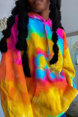 Urban Renewal Vintage Pastel Tie-Dye Hoodie Sweatshirt