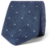 Richard James 8cm Polka Dot-Embroidered Silk-Délavé Tie