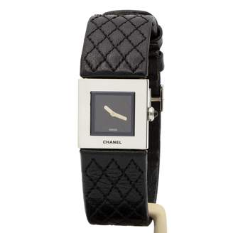 Chanel MatelassAe Black Steel Watches