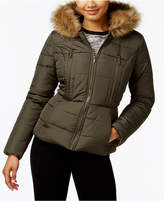 Celebrity Pink Juniors' Faux-Fur-Trim Puffer Coat