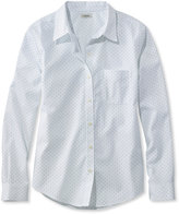 L.L. Bean Wrinkle-Free Pinpoint Oxford Shirt, Long-Sleeve Dot
