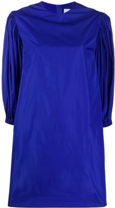 MSGM Puff Sleeved Taffeta Dress