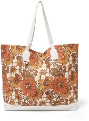 Dodo Bar Or Litta Floral-print Canvas Tote Bag - Orange Multi