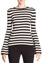 Milly Striped Bell Sleeve Pullover