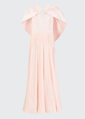 Givenchy Silk Exaggerated-Sleeve Cutout Gown
