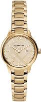 Burberry 32mm Round Golden Stainless Steel Bracelet Watch